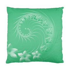 Light Green Abstract Flowers Cushion Case (Two Sides)