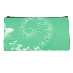 Light Green Abstract Flowers Pencil Case