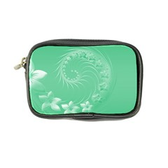Light Green Abstract Flowers Coin Purse