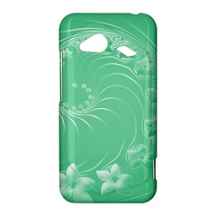 Light Green Abstract Flowers HTC Droid Incredible 4G LTE Hardshell Case