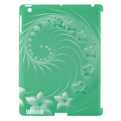 Light Green Abstract Flowers Apple Ipad 3/4 Hardshell Case (compatible With Smart Cover)