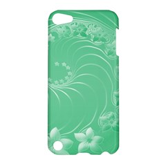 Light Green Abstract Flowers Apple iPod Touch 5 Hardshell Case