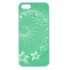 Light Green Abstract Flowers Apple Seamless iPhone 5 Case (Color)
