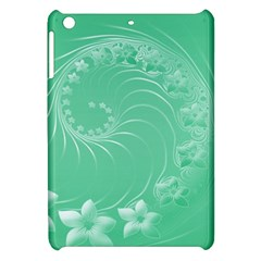 Light Green Abstract Flowers Apple Ipad Mini Hardshell Case