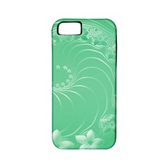 Light Green Abstract Flowers Apple iPhone 5 Classic Hardshell Case (PC+Silicone)