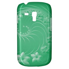 Light Green Abstract Flowers Samsung Galaxy S3 MINI I8190 Hardshell Case