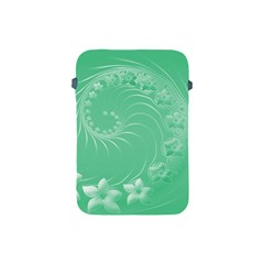 Light Green Abstract Flowers Apple iPad Mini Protective Soft Case