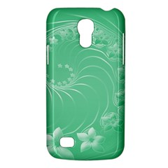 Light Green Abstract Flowers Samsung Galaxy S4 Mini Hardshell Case