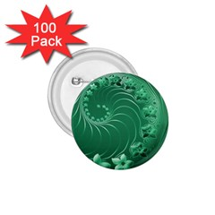 Green Abstract Flowers 1.75  Button (100 pack)