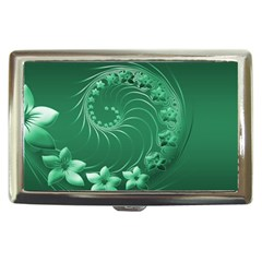 Green Abstract Flowers Cigarette Money Case