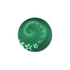 Green Abstract Flowers Golf Ball Marker