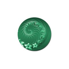Green Abstract Flowers Golf Ball Marker 4 Pack