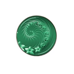 Green Abstract Flowers Golf Ball Marker 4 Pack (for Hat Clip)