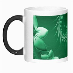 Green Abstract Flowers Morph Mug