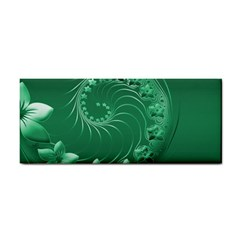 Green Abstract Flowers Hand Towel