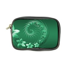 Green Abstract Flowers Coin Purse