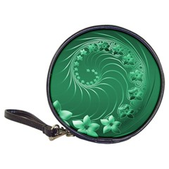Green Abstract Flowers Cd Wallet