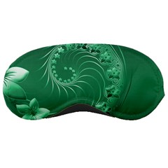 Green Abstract Flowers Sleeping Mask