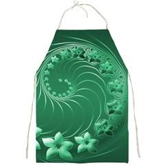 Green Abstract Flowers Apron