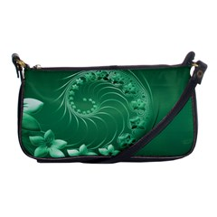 Green Abstract Flowers Evening Bag