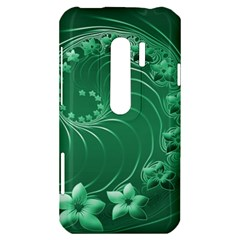 Green Abstract Flowers HTC Evo 3D Hardshell Case