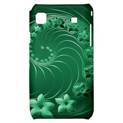 Green Abstract Flowers Samsung Galaxy S i9000 Hardshell Case