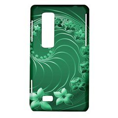 Green Abstract Flowers LG Optimus 3D P920 / Thrill 4G P925 Hardshell Case