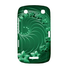 Green Abstract Flowers BlackBerry Curve 9380 Hardshell Case