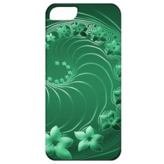 Green Abstract Flowers Apple iPhone 5 Classic Hardshell Case