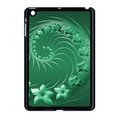 Green Abstract Flowers Apple Ipad Mini Case (black)