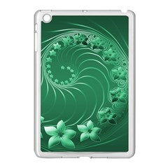 Green Abstract Flowers Apple Ipad Mini Case (white)