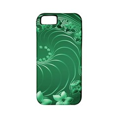Green Abstract Flowers Apple iPhone 5 Classic Hardshell Case (PC+Silicone)