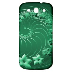 Green Abstract Flowers Samsung Galaxy S3 S Iii Classic Hardshell Back Case