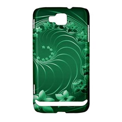 Green Abstract Flowers Samsung Ativ S i8750 Hardshell Case