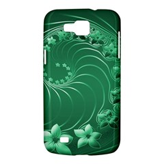 Green Abstract Flowers Samsung Galaxy Premier I9260 Hardshell Case