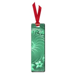 Green Abstract Flowers Small Bookmark
