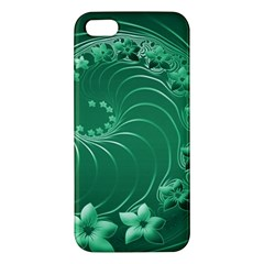 Green Abstract Flowers iPhone 5 Premium Hardshell Case