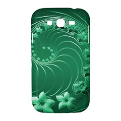 Green Abstract Flowers Samsung Galaxy Grand DUOS I9082 Hardshell Case