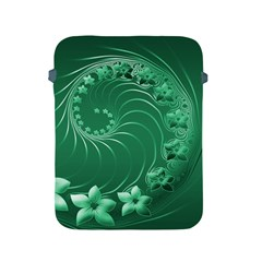 Green Abstract Flowers Apple iPad 2/3/4 Protective Soft Case