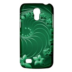 Green Abstract Flowers Samsung Galaxy S4 Mini Hardshell Case