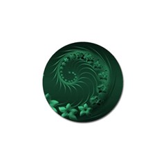 Dark Green Abstract Flowers Golf Ball Marker 4 Pack