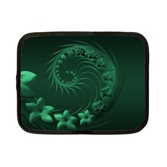 Dark Green Abstract Flowers Netbook Case (Small)