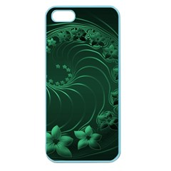 Dark Green Abstract Flowers Apple Seamless iPhone 5 Case (Color)