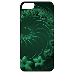 Dark Green Abstract Flowers Apple iPhone 5 Classic Hardshell Case