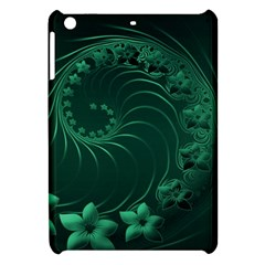 Dark Green Abstract Flowers Apple iPad Mini Hardshell Case