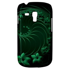 Dark Green Abstract Flowers Samsung Galaxy S3 MINI I8190 Hardshell Case