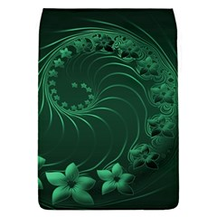 Dark Green Abstract Flowers Removable Flap Cover (Large)
