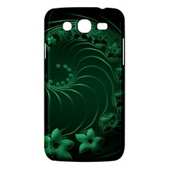 Dark Green Abstract Flowers Samsung Galaxy Mega 5 8 I9152 Hardshell Case