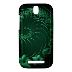 Dark Green Abstract Flowers HTC One SV Hardshell Case