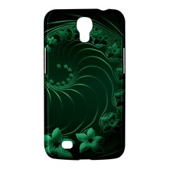 Dark Green Abstract Flowers Samsung Mega 6.3  I9200